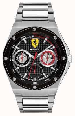 Scuderia Ferrari Męski zegar ze stali nierdzewnej z czarnym wykresem daty 0830535
