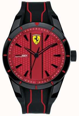 Scuderia Ferrari Mens redrev czerwona tarcza czarny pasek gumowy 0830540