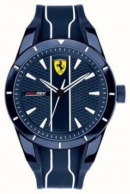 Scuderia Ferrari Mens redrev niebieska tarcza niebieski pasek gumowy 0830541