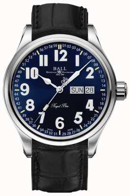 Ball Watch Company Wyświetlanie daty i dnia w systemie Trainmaster na niebiesko-niebiesko-niebieskim tle NM1058D-LL9J-BE