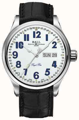 Ball Watch Company Trainmaster royal blue white wybierze datę i dzień NM1058D-LL9J-WH