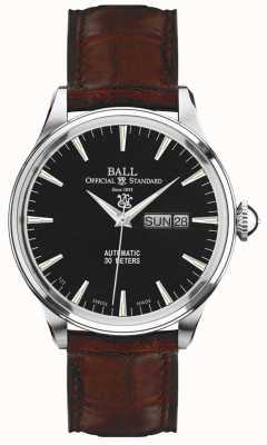 Ball Watch Company Wyświetlanie daty i daty w zegarku Trainmaster eternity NM2080D-LJ-BK