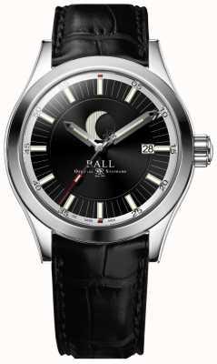 Ball Watch Company Inżynier ii data fazy księżyca wyświetla czarną tarczę NM2282C-LLJ-BK