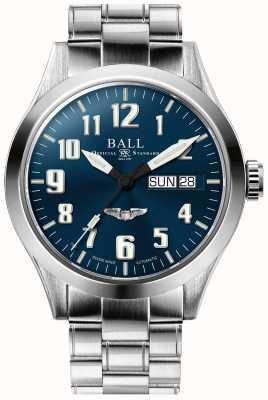 Ball Watch Company Engineer III bransoleta ze stali nierdzewnej srebrna niebieska gwiazda z tarczą NM2182C-S3J-BE