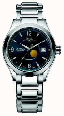 Ball Watch Company Faza księżycowa w Ohio z automatycznym wyświetlaniem daty na niebiesko NM2082C-SJ-BE