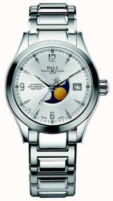 Ball Watch Company Faza księżycowa Ohio automatyczny srebrny wyświetlacz daty wybierania NM2082C-SJ-SL