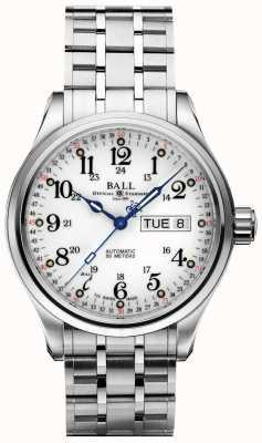 Ball Watch Company Firma 60 sekund wyświetla biały dzień i datę NM1058D-S3J-WH