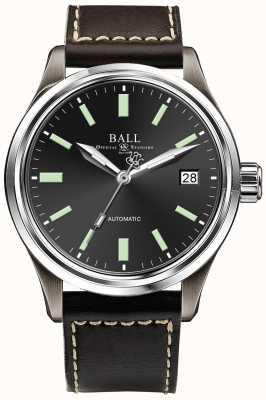 Ball Watch Company Datownik automatyczny z automatyczną czarną tarczą Trainmaster Titanium NM1038D-L5J-BK