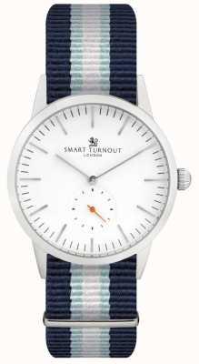 Smart Turnout Zegarek z podpisem - biały z paskiem yh STK3/WH/56/W