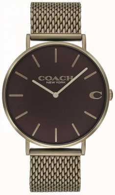 Coach Męskie bransoletki z brązu z siatki charles 14602147