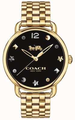 Coach Damska delancey zegarka bransoleta ze złotym odcieniem 14502813