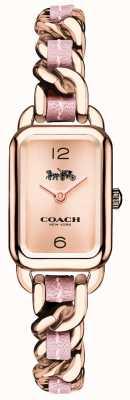 Coach Damski zegarek z różowego złota i różowego bransoletki 14502844