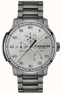 Coach Męski wielofunkcyjny zegarek typu bleecker w kolorze szarym 14602360