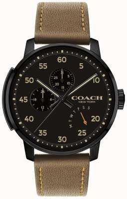 Coach Męski zegarek typu bleecker z wielofunkcyjną czarną tarczą 14602339