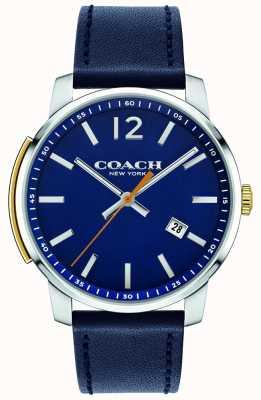 Coach Męski wielofunkcyjny niebieski zegarek typu bleecker 14602343