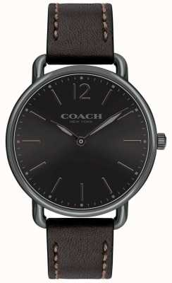 Coach Męski delancey slim watch black dial blackleather strap 14602346