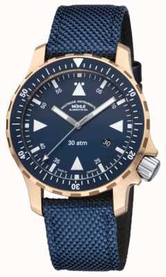 Muhle Glashutte Męskie, brązowe etui z ograniczoną liczbą zegarków M1-41-72-NB