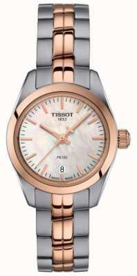 Tissot Damski zegarek z dwubarwną bransoletą z masy perłowej PR100 T1010102211101