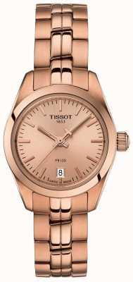 Tissot Bransoletka damska PR100 w kolorze różowego złota | tarcza z różowego złota T1010103345100