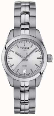 Tissot Damska bransoleta ze stali nierdzewnej pr100 ze srebrnym zegarkiem T1010101103100