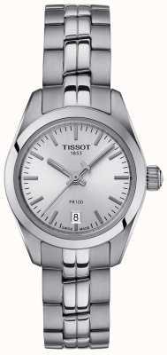Tissot Damski zegarek ze srebrną tarczą ze stali nierdzewnej pr100 T1010101103100