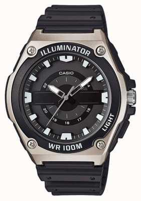 Casio Męski zegarek z czarnej żywicy MWC-100H-1AVEF