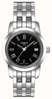 Tissot Damska klasyczna czarna tarcza ze stali nierdzewnej T0332101105300