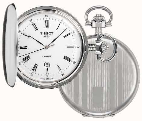 Tissot Zegarek kieszonkowy Savonette full hunter ze stali nierdzewnej T83655313