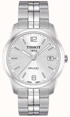Tissot Męska stal nierdzewna pr100 srebrna tarcza szwajcarska T0494101103701