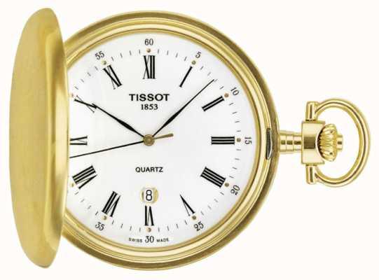 Tissot Pozłacany szwajcarski zegarek kieszonkowy Savonette T83455313