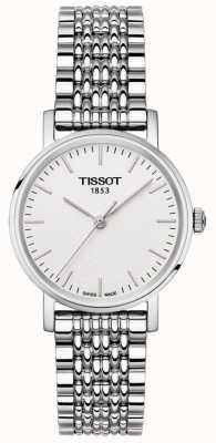 Tissot Damska bransoletka ze stali nierdzewnej za każdym razem ze srebrną tarczą T1092101103100