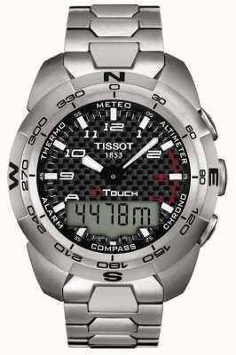 Tissot Męski t-touch chronograf tytanowy z chronografem T0134204420200