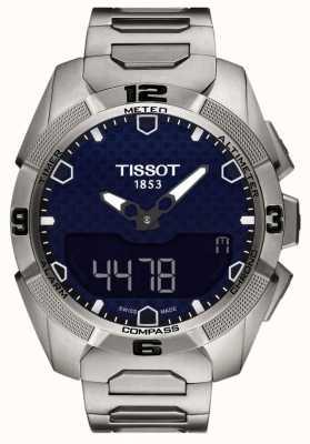 Tissot Męski T-touch chronometr z zegarem słonecznym z tytanu T0914204404100