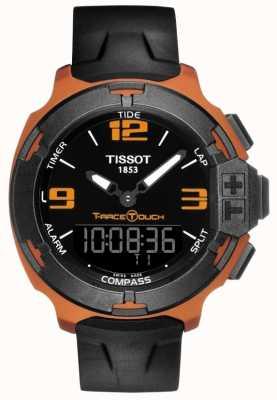 Tissot Męski t-race, czarny, gumowy pasek T0814209705703