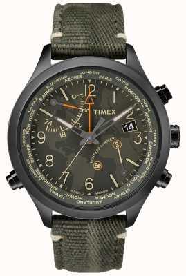 Timex Zegarek z tkaniny Waterbury na świecie o długości 43 mm TW2R43200VQ