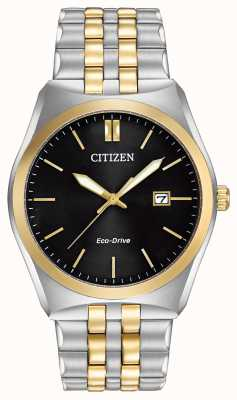 Citizen Eco-drive Corso WR100 | czarna tarcza | pasek ze stali nierdzewnej | BM7334-58E