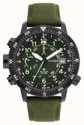 Citizen Męski zegarek eco ekologicznego promularza altichron wr200 BN4045-12X