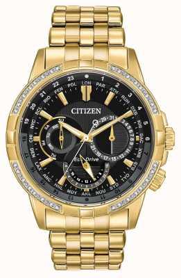 Citizen Męski, kalandrowany eko-napęd, pozłacany 32 diamentami BU2082-56E