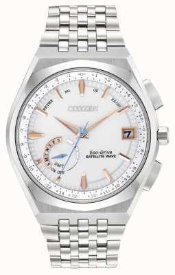 Citizen Męski zegarek ze złotym akcentem IP ze stali nierdzewnej, eco-drive CC3020-57A