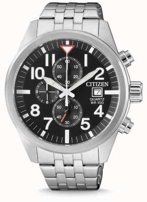 Citizen Męski zegarek ze stali kwarcowy ze stali nierdzewnej 100m odporny na wodę AN3620-51E