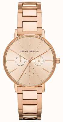 Armani Exchange Lola damska platerowane różowym złotem pvd AX5552