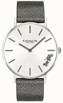 Coach Damski zegarek z szarego skórzanego paska perry 14503155