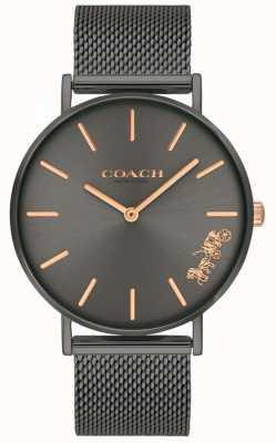 Coach Damski zegarek perry ze stali siatkowej perry 14503127