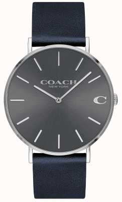 Coach Męski pasek granatowy charles męski zegarek 14602150