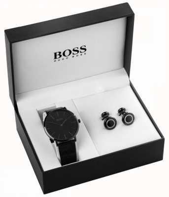 Hugo Boss Męski zegarek z czarnym jonem i sprzączką 1570067