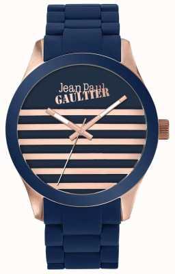 Jean Paul Gaultier Enfants terribles unisex niebieski i różany złoty zegarek z gumy JP8501127