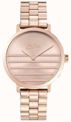 Jean Paul Gaultier Glam damski metalowy zegarek w kolorze różowego złota JP8505608