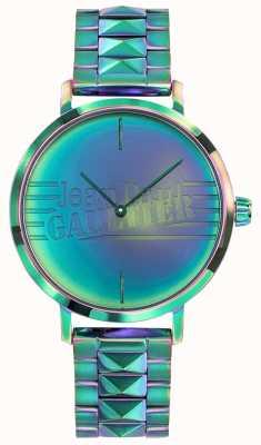 Jean Paul Gaultier Bad girl kobiet zielony metalowy efekt tęczy zegarek JP8505705