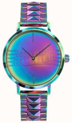 Jean Paul Gaultier Bad girl kobiet fioletowy metalowy efekt tęczy zegarek JP8505706