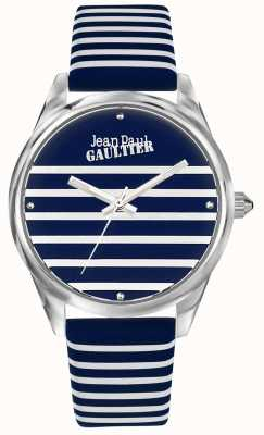 Jean Paul Gaultier Granatowy pasek damski do zegarka ze skórzanym paskiem JP8502414